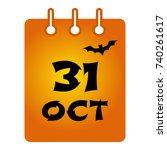 october 31 st calendar colored... | Shutterstock .eps vector #740261617