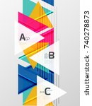 color triangles background ... | Shutterstock .eps vector #740278873