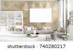 fashionable modern loft... | Shutterstock . vector #740280217