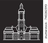 germany marienplatz icon flat... | Shutterstock .eps vector #740282593