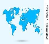 blue world map | Shutterstock .eps vector #740285617
