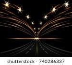 abstract light effects. car...   Shutterstock .eps vector #740286337