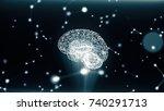 circular rotation polygonal... | Shutterstock . vector #740291713