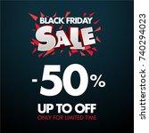 black friday sales. limited... | Shutterstock .eps vector #740294023