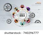idea concept for business...   Shutterstock .eps vector #740296777