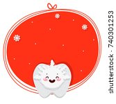 christmas tooth  snowflake ... | Shutterstock .eps vector #740301253