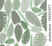 vector pattern background... | Shutterstock .eps vector #740317477