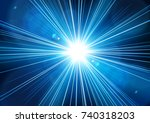blue light shining from... | Shutterstock .eps vector #740318203
