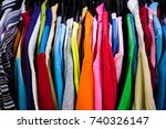 rainbow colors fashion clothing ... | Shutterstock . vector #740326147