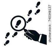 following footsteps vector...   Shutterstock .eps vector #740348137