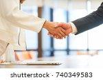 close up investor businessman... | Shutterstock . vector #740349583