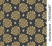 seamless floral pattern hand...   Shutterstock .eps vector #740356687