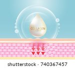 collagen serum and vitamin... | Shutterstock .eps vector #740367457