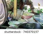 making noodles. | Shutterstock . vector #740370157
