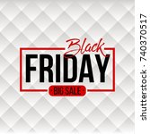 abstract vector black friday... | Shutterstock .eps vector #740370517