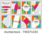 abstract vector layout... | Shutterstock .eps vector #740371333