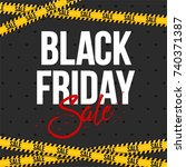 abstract vector black friday... | Shutterstock .eps vector #740371387
