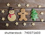 festive christmas cookie and... | Shutterstock . vector #740371603