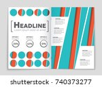 abstract vector layout... | Shutterstock .eps vector #740373277
