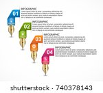 infographics template with... | Shutterstock .eps vector #740378143