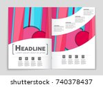 abstract vector layout... | Shutterstock .eps vector #740378437