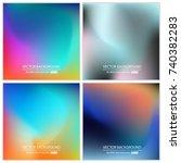 abstract creative concept... | Shutterstock .eps vector #740382283