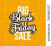 abstract vector black friday... | Shutterstock .eps vector #740385127