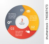 circle arrows for infographics. ... | Shutterstock .eps vector #740387473