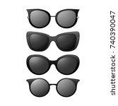 a set of sunglasses.  | Shutterstock .eps vector #740390047