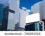 blank advertising billboard ... | Shutterstock . vector #740391523