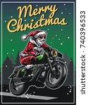 santa claus riding motorcycle...