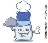 chef salt character cartoon... | Shutterstock .eps vector #740399383