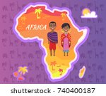 africa continent vector with... | Shutterstock .eps vector #740400187