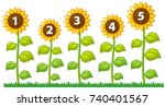 number one to five on... | Shutterstock .eps vector #740401567