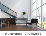 white living room interior with ... | Shutterstock . vector #740402653