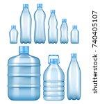 vector realistic plastic water... | Shutterstock .eps vector #740405107