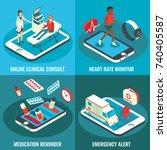 online medical services vector...   Shutterstock .eps vector #740405587