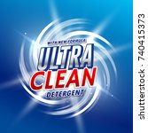 creative detergent packaging... | Shutterstock .eps vector #740415373