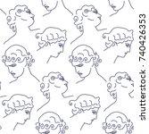 vector illustration of seamless ... | Shutterstock .eps vector #740426353