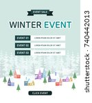 winter sale event design | Shutterstock .eps vector #740442013