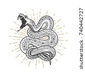 viper snake illustration on... | Shutterstock .eps vector #740442727