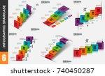 infographic elements data... | Shutterstock .eps vector #740450287