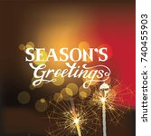 seasons greetings hand... | Shutterstock .eps vector #740455903