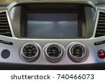 screen multimedia system in a... | Shutterstock . vector #740466073