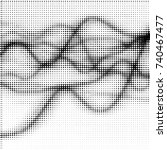 abstract grunge grid polka dot... | Shutterstock .eps vector #740467477