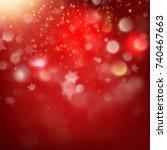 christmas bokeh background.... | Shutterstock .eps vector #740467663