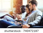diverse group of people... | Shutterstock . vector #740472187
