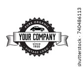 retro car logo vintage style.... | Shutterstock .eps vector #740486113