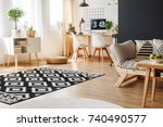 black and white carpet and... | Shutterstock . vector #740490577