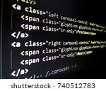 Small photo of Program code hacker, Real Python code developing screen. Programing workflow abstract algorithm concept. Lines of Python code visible under magnifying lens.